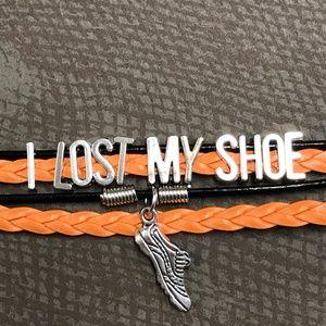 "Jewelry - ""I Lost My Shoe"" Supernatural Sam Leather Bracelet"